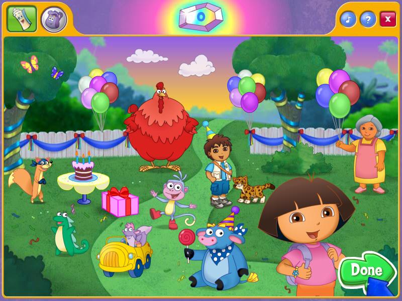 朵拉的生日大冒险游戏的动态界面